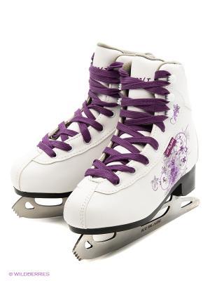 Коньки фигурные ICE BLADE Sochi,. Цвет: белый, фиолетовый