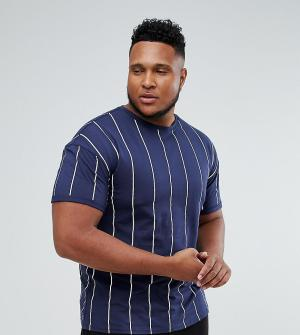 Sixth June T-Shirt In Navy Stripe exclusive to ASOS. Цвет: темно-синий