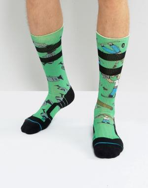 Stance Зимние носки Dad Camp. Цвет: зеленый