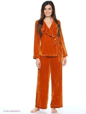 Пижама Del Fiore. Цвет: рыжий