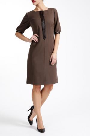 Платье PAOLA COLLECTION. Цвет: коричневый