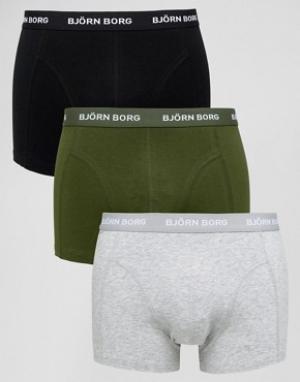 Bjorn Borg Набор из 3 пар боксеров-брифов. Цвет: серый