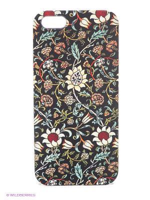 Чехол для IPhone 5 Цветочный ковер Mitya Veselkov. Цвет: черный, зеленый