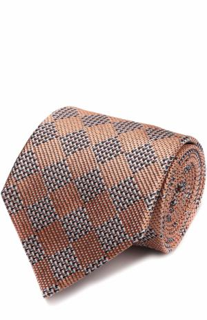 Шелковый галстук Ermenegildo Zegna. Цвет: оранжевый