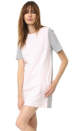 Платье в бретонскую полоску Chinti and Parker. Цвет: кремовый/розовый/темно-синий