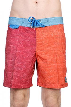 Пляжные мужские шорты  Multi Unstatic Mid Deadbeet Insight. Цвет: оранжевый,голубой,бордовый
