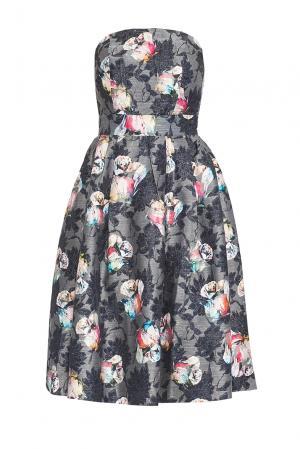 Платье из искусственного шелка 167851 Paola Morena. Цвет: серый