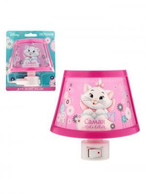 Ночник, Кошечка Мари Disney. Цвет: молочный, розовый, фуксия