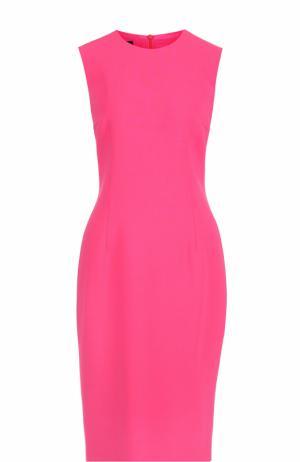 Приталенное платье-миди без рукавов Escada. Цвет: фуксия