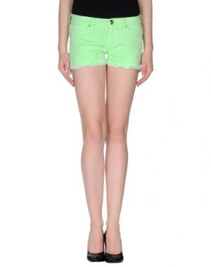 Повседневные шорты OAKS. Цвет: светло-зеленый
