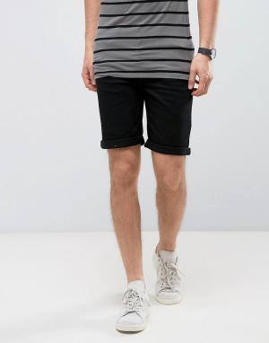 Burton Menswear Джинсовые шорты скинни. Цвет: черный
