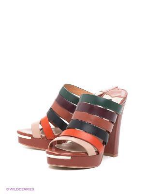 Сабо Vitacci. Цвет: коричневый, рыжий, фиолетовый, черный, зеленый