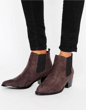 Head Over Heels Ботинки челси с острым носком. Цвет: серый