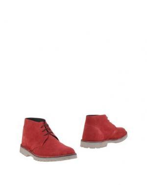 Полусапоги и высокие ботинки BRAWN'S. Цвет: красный