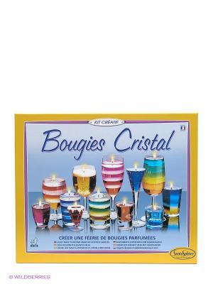 Набор для изготовления свечей Кристалл SENTOSPHERE. Цвет: голубой