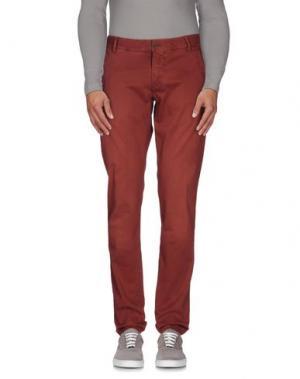 Повседневные брюки NICHOL JUDD. Цвет: кирпично-красный