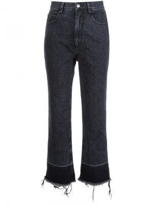 Укороченные джинсы с необработанными краями Rachel Comey. Цвет: чёрный