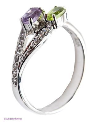 Кольцо Silver Wings. Цвет: серебристый, фиолетовый