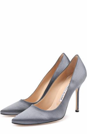 Атласные туфли  X Manolo Blahnik Vetements. Цвет: серый