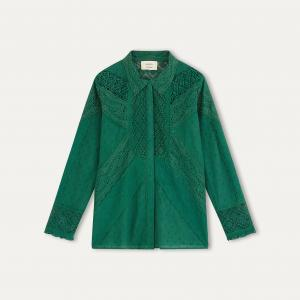 Рубашка EMALIA BA&SH. Цвет: зеленый