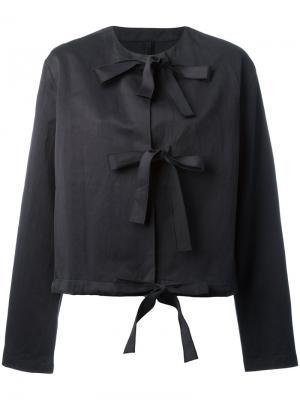 Пиджак с ремешками спереди Sara Lanzi. Цвет: чёрный