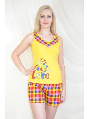 Пижама Miata. Цвет: желтый, красный, синий