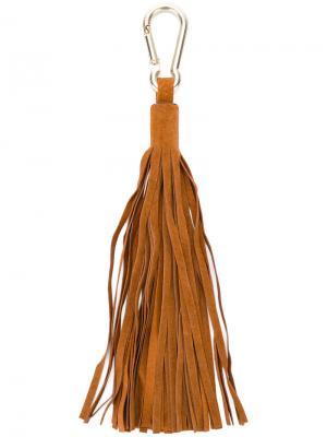 Брелок с кисточкой Antonia Zander. Цвет: коричневый
