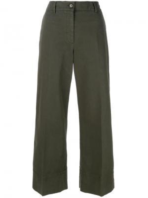 Широкие брюки Aspesi. Цвет: зелёный