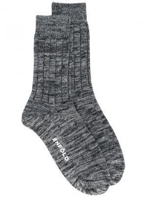 Носки в полоску Enföld. Цвет: серый