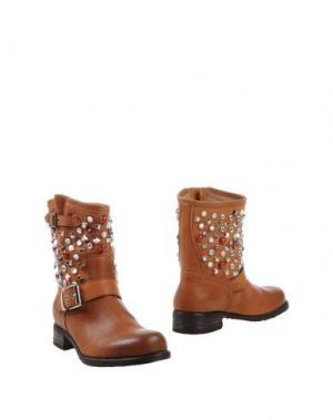Полусапоги и высокие ботинки TWO 6 SHOES. Цвет: желто-коричневый