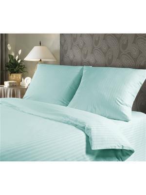 Евро комплект постельного белья, Verossa STRIPE, наволочки 50/70см и 70/70см, Вlue sky. Цвет: голубой