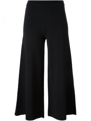 Расклешенные брюки Theory. Цвет: чёрный