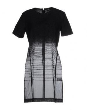 Короткое платье OSTWALD HELGASON. Цвет: черный