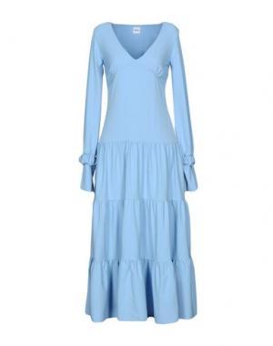 Длинное платье AKEP. Цвет: небесно-голубой