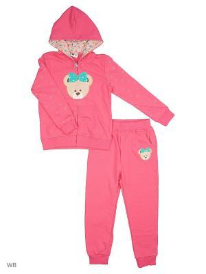 Толстовка с капюшоном и брюки Sago Kids i Ant Domain. Цвет: розовый