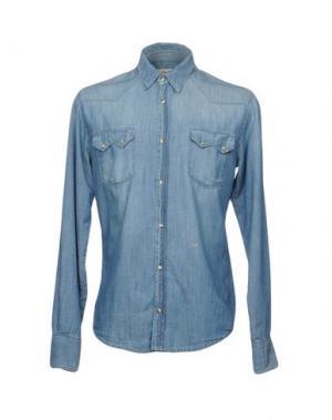 Джинсовая рубашка 2W2M. Цвет: синий