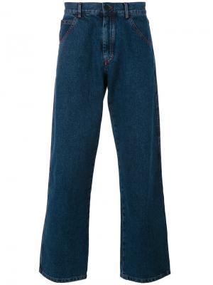 Широкие джинсы Gosha Rubchinskiy. Цвет: синий