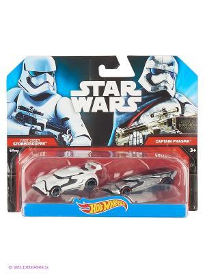 Машинки персонажей вселенной Звездные войны (упаковка из 2-х) Hot Wheels. Цвет: серый, белый