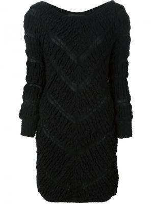 Платье мини с узором шеврон Jay Ahr. Цвет: чёрный