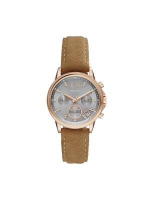 Часы Armani Exchange. Цвет: серый, светло-коричневый, розовый, золотистый