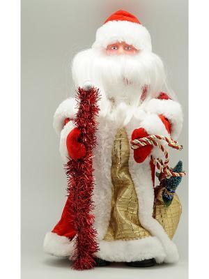 Фигурка декоративная Дед мороз 30 см красный с золотом Яркий Праздник. Цвет: красный