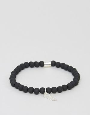 Chained & Able Узкий серебристый браслет с бусинами. Цвет: серебряный