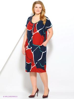 Платье МадаМ Т. Цвет: синий, бордовый