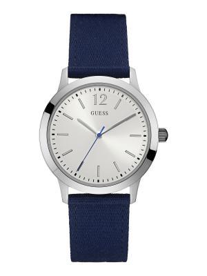 Часы GUESS. Цвет: темно-синий, белый, серебристый