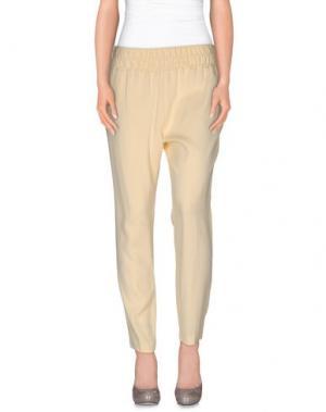 Повседневные брюки CRISTINAEFFE. Цвет: светло-желтый