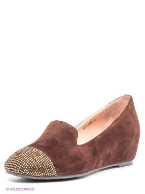 Туфли GERZEDO. Цвет: темно-коричневый