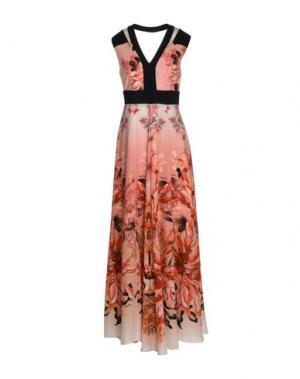 Длинное платье MARIA GRAZIA SEVERI. Цвет: лососево-розовый
