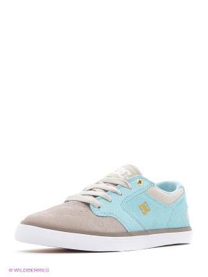 Кеды DC Shoes. Цвет: голубой, серый