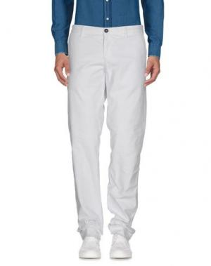 Повседневные брюки MONOCROM. Цвет: белый