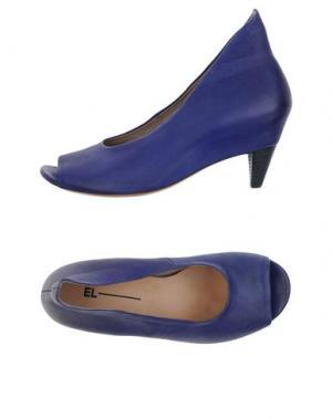 Туфли EL. Цвет: ярко-синий